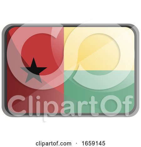 Vector Illustration of Guinea Bissau Flag by Morphart Creations