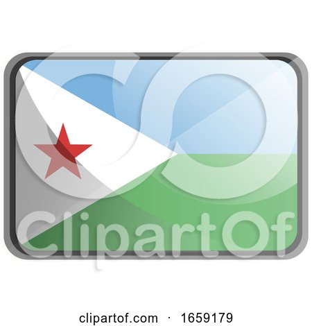Vector Illustration of Djibouti Flag by Morphart Creations