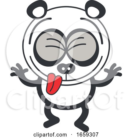 Cartoon Silly Panda Making Funny Faces by Zooco