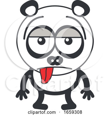 Cartoon Indifferent Panda by Zooco