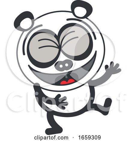 Cartoon Laughing Panda by Zooco