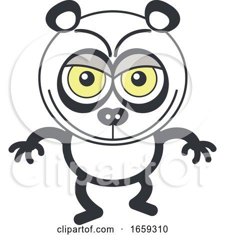 Cartoon Naughty Panda by Zooco