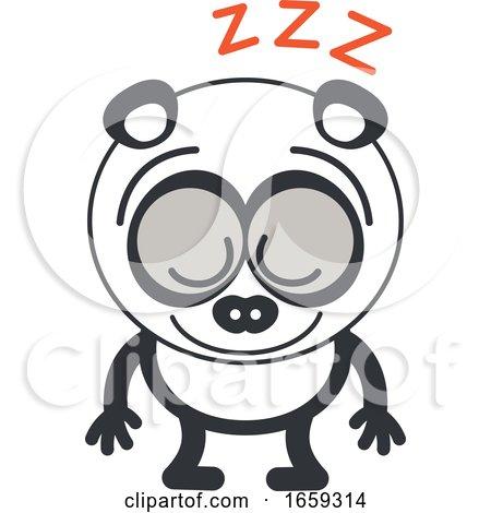 Cartoon Sleeping Panda by Zooco