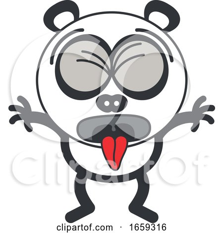 Cartoon Sick Panda by Zooco