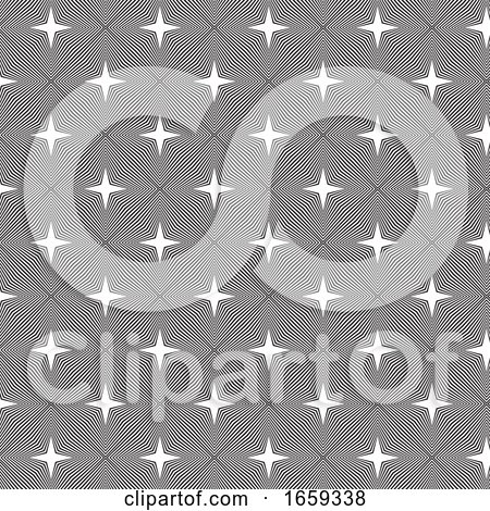 Black and White Pattern Background by KJ Pargeter