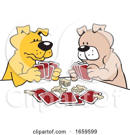 Cartoon Dogs Playing Poker by Johnny Sajem