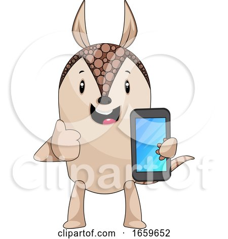 Armadillo with Mobile Phone by Morphart Creations