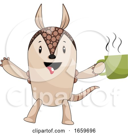 Armadillo with Coffee Posters, Art Prints