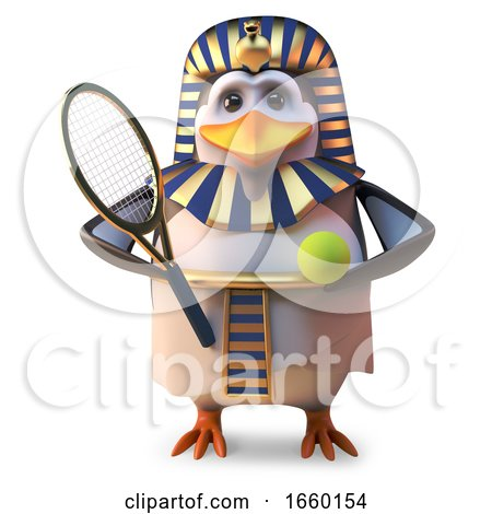 Active Penguin Pharaoh Tutankhamun Plays Tennis All the Time by Steve Young