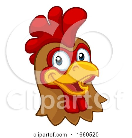 Chicken Cartoon Rooster Cockerel Character Posters, Art Prints