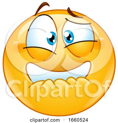 Cartoon Frightened Emoji Smiley by yayayoyo