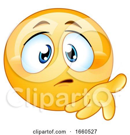 Cartoon Concerned Emoji Smiley by yayayoyo