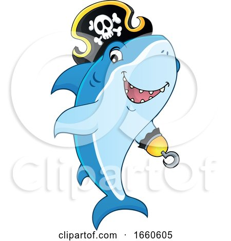 Cartoon Pirate Shark by visekart