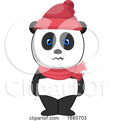 Panda with Hat and Scarf by Morphart Creations