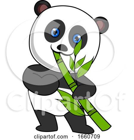 Panda Eating Bamboo by Morphart Creations