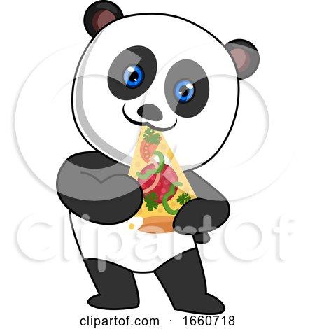 Panda Eating Pizza by Morphart Creations