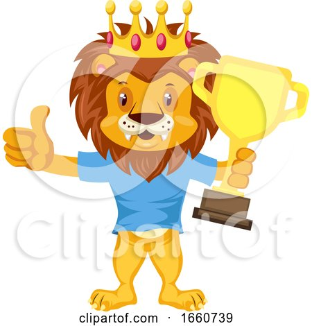 Lion with Trophy by Morphart Creations