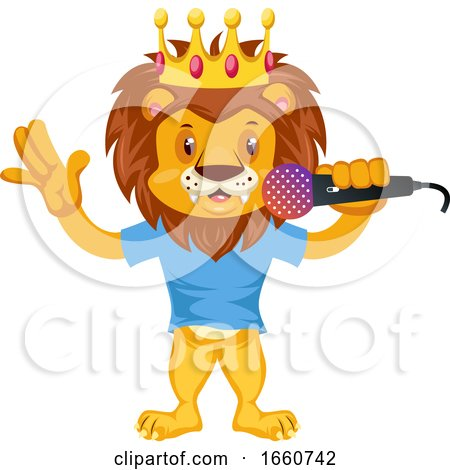 Lion with Microphone by Morphart Creations