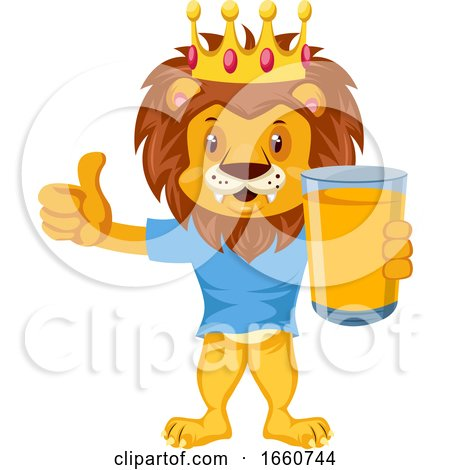 Lion with Orange Juice by Morphart Creations