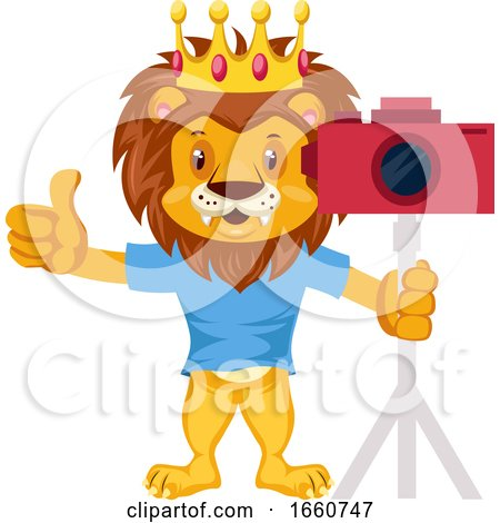 Lion with Camera by Morphart Creations