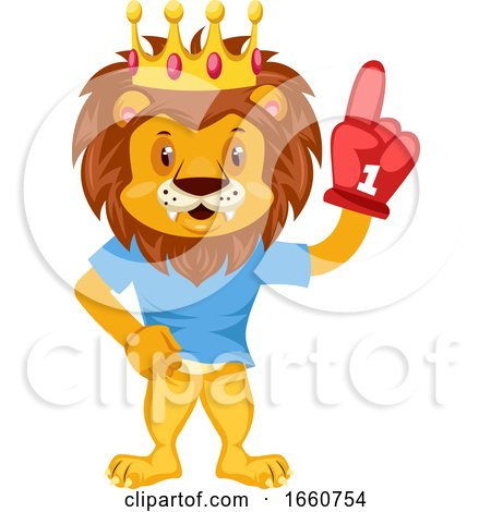 Lion with Red Glove by Morphart Creations