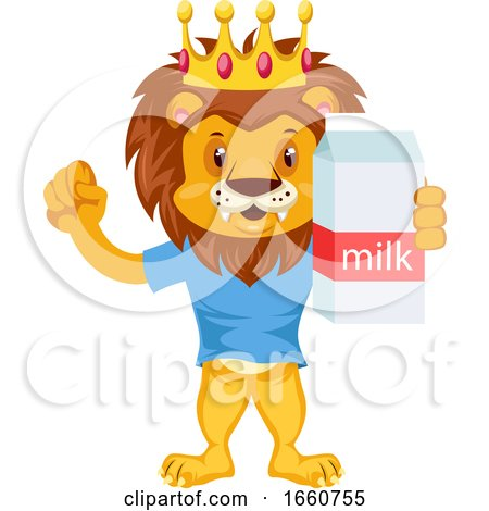 Lion with Milk by Morphart Creations