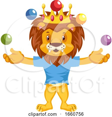 Juggling Lion by Morphart Creations