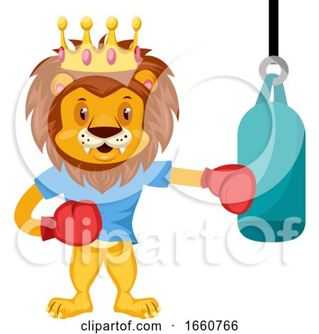 Lion Boxing by Morphart Creations
