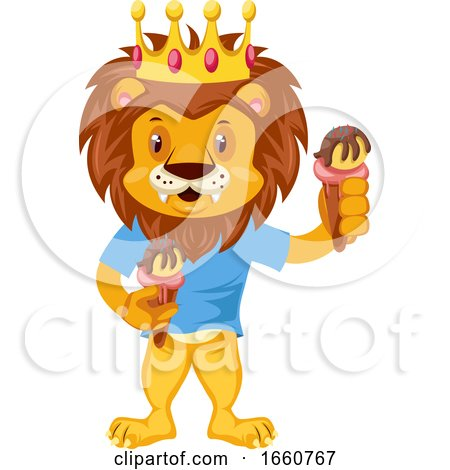 Lion with Ice Cream by Morphart Creations