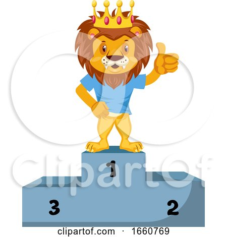 Lion on Winning Stage by Morphart Creations