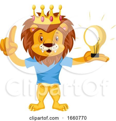 Lion Having Idea by Morphart Creations