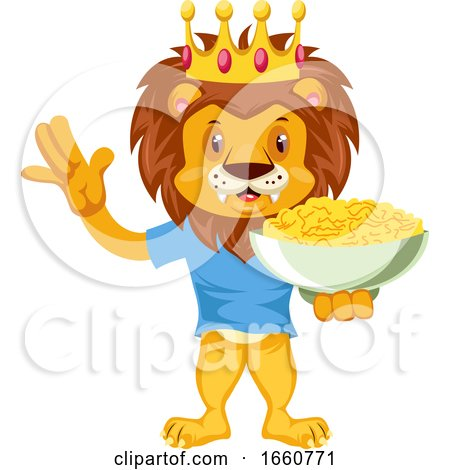 Lion with Snacks by Morphart Creations