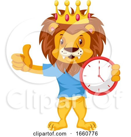 Lion with Clock by Morphart Creations
