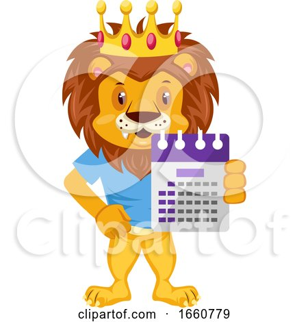 Lion with Calendar by Morphart Creations