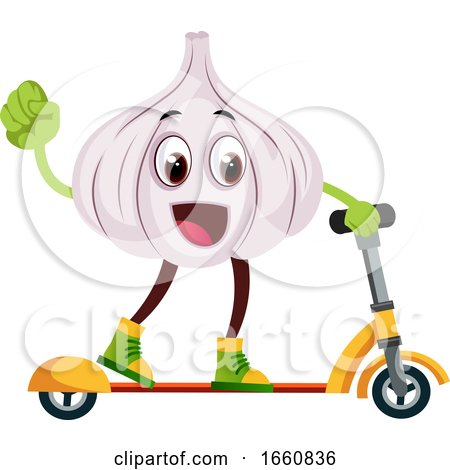 Garlic Ridding Scooter by Morphart Creations