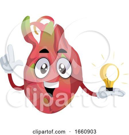 Dragon Fruit Having Idea by Morphart Creations
