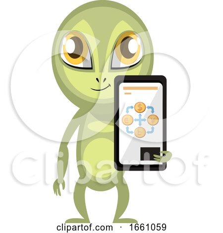 Alien with Cellphone by Morphart Creations