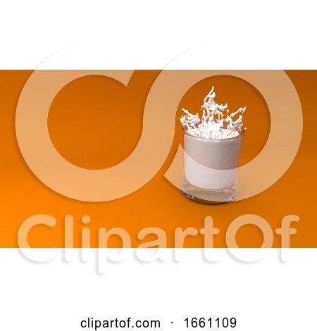 Glass of Milk 3D Render by KJ Pargeter