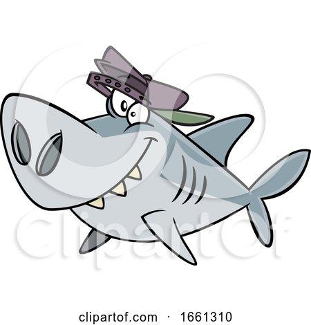 Cartoon Brother Shark by toonaday