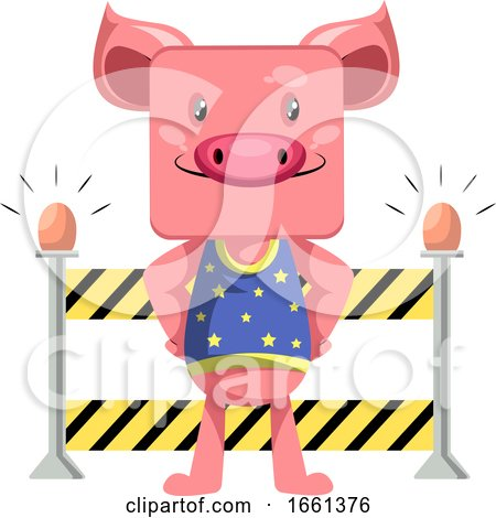 Piggy on Construction Yard by Morphart Creations