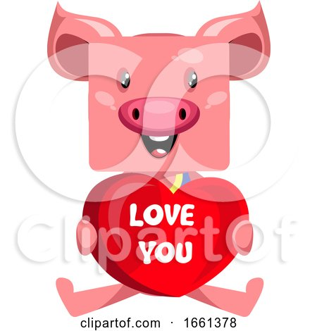Pig with Big Heart by Morphart Creations