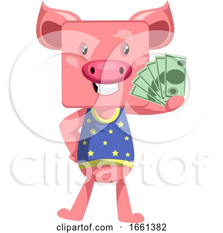 Pig with Money by Morphart Creations