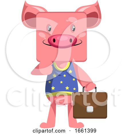 Pig with Suitcase by Morphart Creations