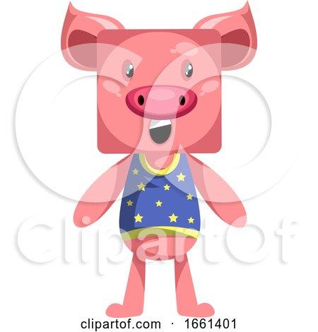 Pig Standing Still by Morphart Creations