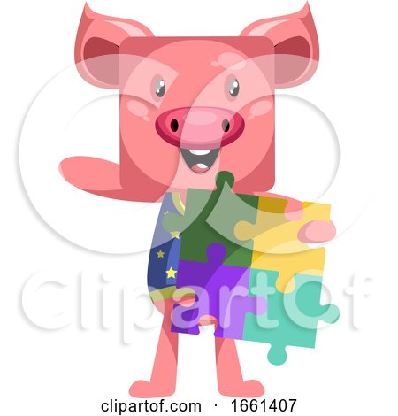 Pig Holding Puzzle by Morphart Creations