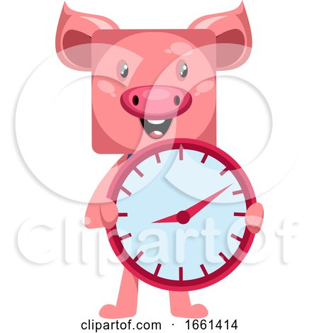 Pig with Clock by Morphart Creations