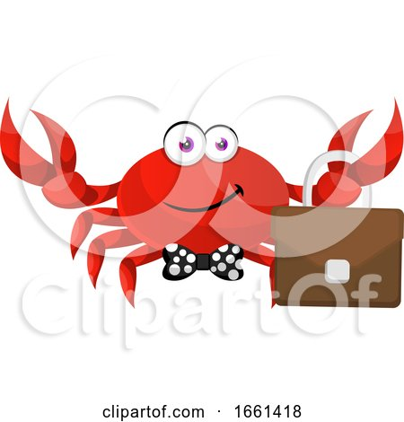 Crab with Suitcase by Morphart Creations