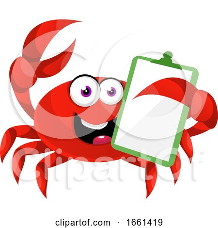 Crab with Schedule Note by Morphart Creations