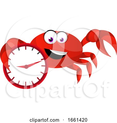Crab with Clock by Morphart Creations