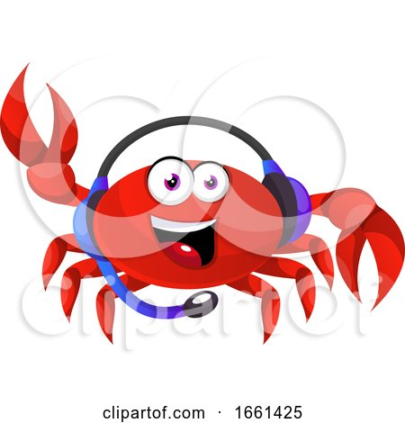 Crab with Headphones by Morphart Creations